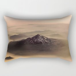 The West is Burning - Mt Shasta - nature photography Rectangular Pillow