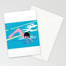 Swimming High Stationery Cards