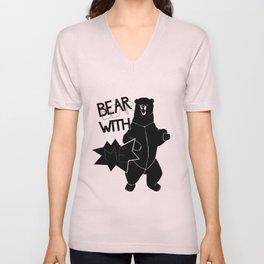 Bear With Me Unisex V-Neck
