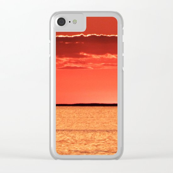 Orange Sky and Sea Clear iPhone Case