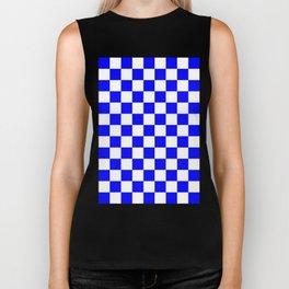 Checker (Blue/White) Biker Tank