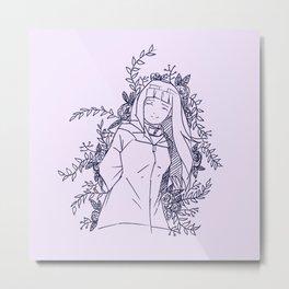 White Eyes Princess Metal Print