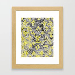 LV NEONIZED Framed Art Print