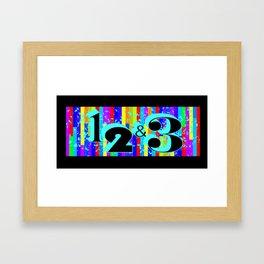 1 2 & 3 Framed Art Print