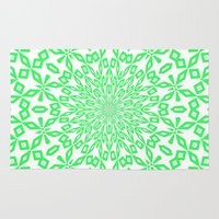 john green Area & Throw Rugs featuring Green... by Lisa Argyropoulos