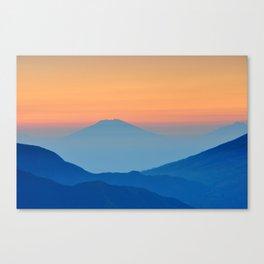 Blue sunset Canvas Print