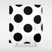 polka dot Shower Curtains featuring Polka Dot by JiaMiin Berglund