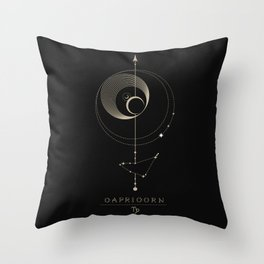 Capricorn Zodiac Constellation Throw Pillow