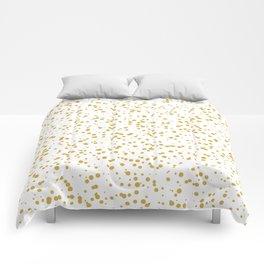 Gold Confetti Dots Pattern Comforters