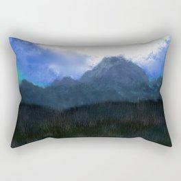 Mountains of the Moon - Fantasy Landscape Rectangular Pillow