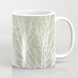 White Bird in White Tree - Moss A593 Coffee Mug