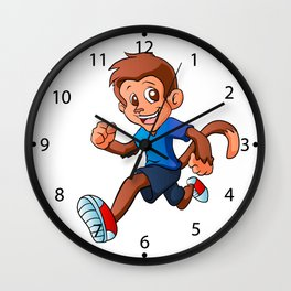 Running monkey . Wall Clock