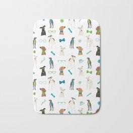 Sighthounds Pattern Green Bath Mat