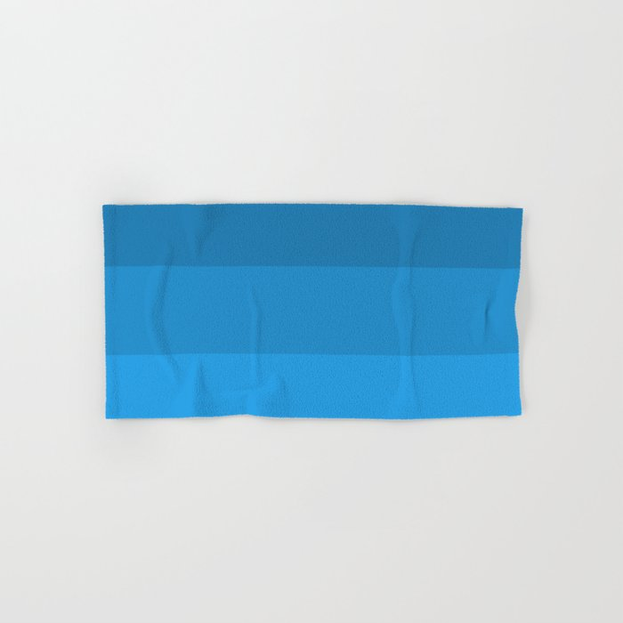 Blue Striped Color Gradient Hand & Bath Towel