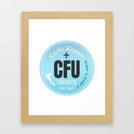 CFU Corfu airport Framed Art Print
