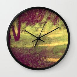 vintage summer forest Wall Clock