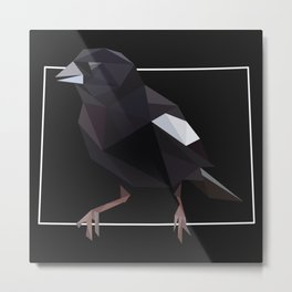 Colorado – Lark Bunting (Black) Metal Print
