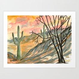 Southwestern Art Desert Painting Art Print