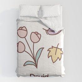 Cute Dungeons and Dragons Druid class Comforters