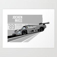 Jochen Mass - 1989 Le Mans Art Print