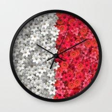 Boundary Flowers Wall Clock