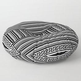 Greek Key - Barcode Floor Pillow