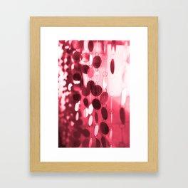 GLAM CIRCLES #Red #1 Framed Art Print