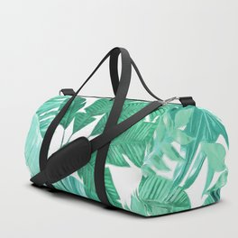 Tropical Leaf Green Duffle Bag