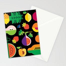 Fruit Medley Black Stationery Cards