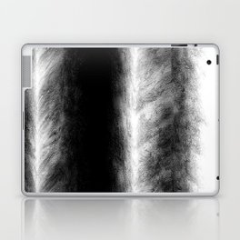 Black and White Stripes in Silk Laptop & iPad Skin