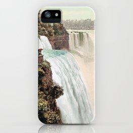 Vintage Niagara Falls Five - 1900 iPhone Case