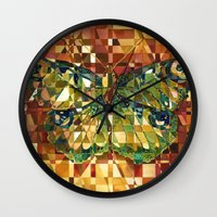 moth Wall Clocks featuring Moth by S.G. DeCarlo