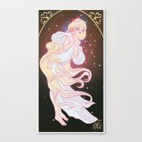 sailor venus Canvas Prints featuring Sailor Venus by Dixie Leota