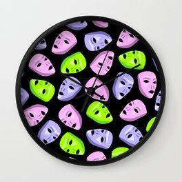 Masks I Wall Clock