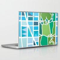 manhattan Laptop & iPad Skins featuring Manhattan by Jenny Wallmark