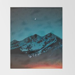 Mountains at night I // Boulder Colorado Throw Blanket