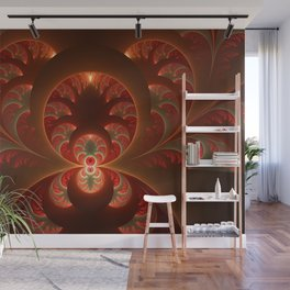 Fractal Mysterious, Warm Colors Are Shining Wall Mural