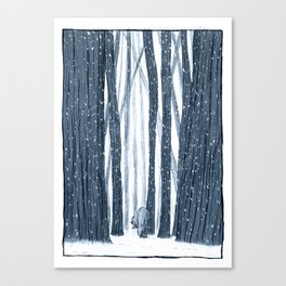Snow Forest Canvas Print