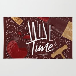 Wine time red Rug