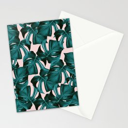 Tropical Monstera Leaves Pattern #1 #foliage #decor #art #society6 Stationery Cards