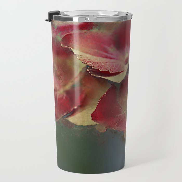 Vintage hydrangea Travel Mug