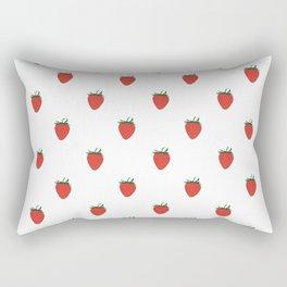 Red Strawberry Pattern Rectangular Pillow
