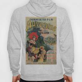 Vintage Auvergne French travel advertising Hoody