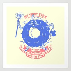 Mischievous donut Art Print