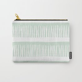Abstract Blades of Grass in Mint Carry-All Pouch