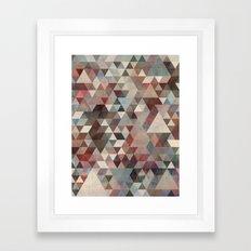 Triangles Rusty Framed Art Print