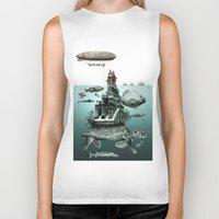 sea turtle Biker Tanks featuring turtle by Кaterina Кalinich
