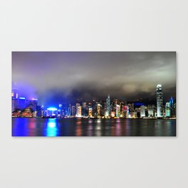 A Night at Victoria Habour Canvas Print