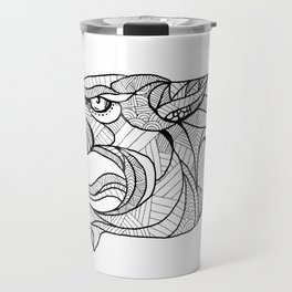 Panther Head Zentagle Travel Mug