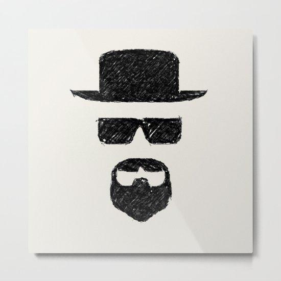 Heisenberg: Sketch Metal Print